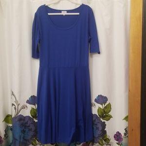LulaRoe royal blue dress sz 3XL